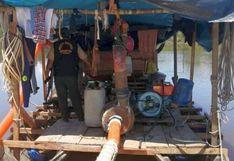 Intervienen dragas y capturan a dos implicados en minería ilegal en Loreto