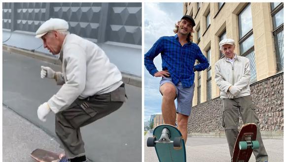 Igor tiene 73 años y continúa practicando al skate en las calles de San Petersburgo | Foto: Captura Instagram.