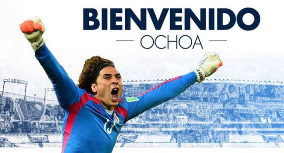 Guillermo Ochoa será presentado hoy como refuerzo del Málaga