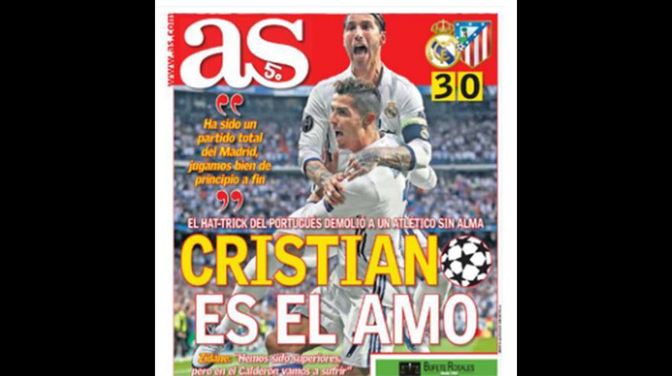 Cristiano Ronaldo en las portadas del mundo tras hat-trick - 6