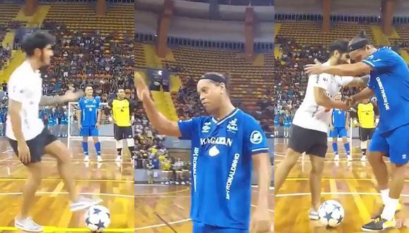 Ronaldinho demostró que su talento y su ingenio sigue intacto. (Youtube)