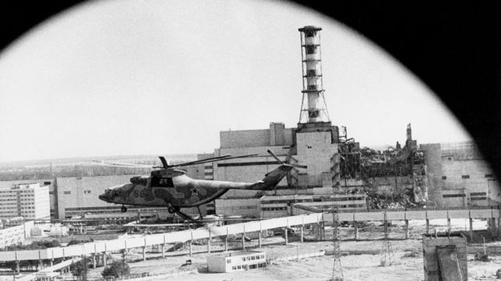 Cuando los científicos e ingenieros vieron la escena desde un helicóptero, comprendieron que la situación era muy grave. Foto: IGOR KOSTIN/GETTY IMAGES, vía BBC Mundo