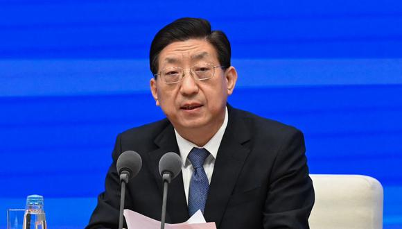 Zeng Yixin, viceministro de la Comisión Nacional de Salud de China. (Foto de Leo RAMIREZ / AFP).