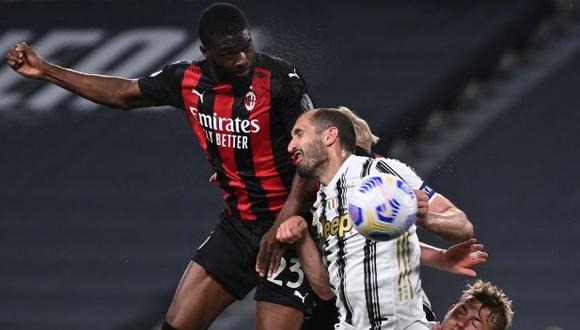 Fikayo Tomori marcó el 3-0 ante Juventus por la Serie A. (Foto: AFP)