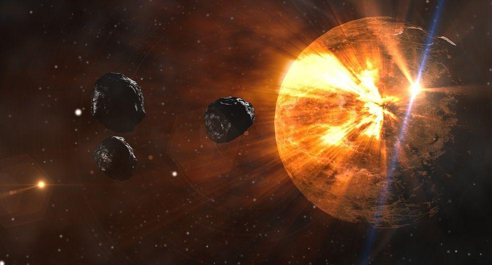 """Durate millones de años, la Tierra fue """"bombardeada"""" por meteoritos. (Foto: Pixabay)"""