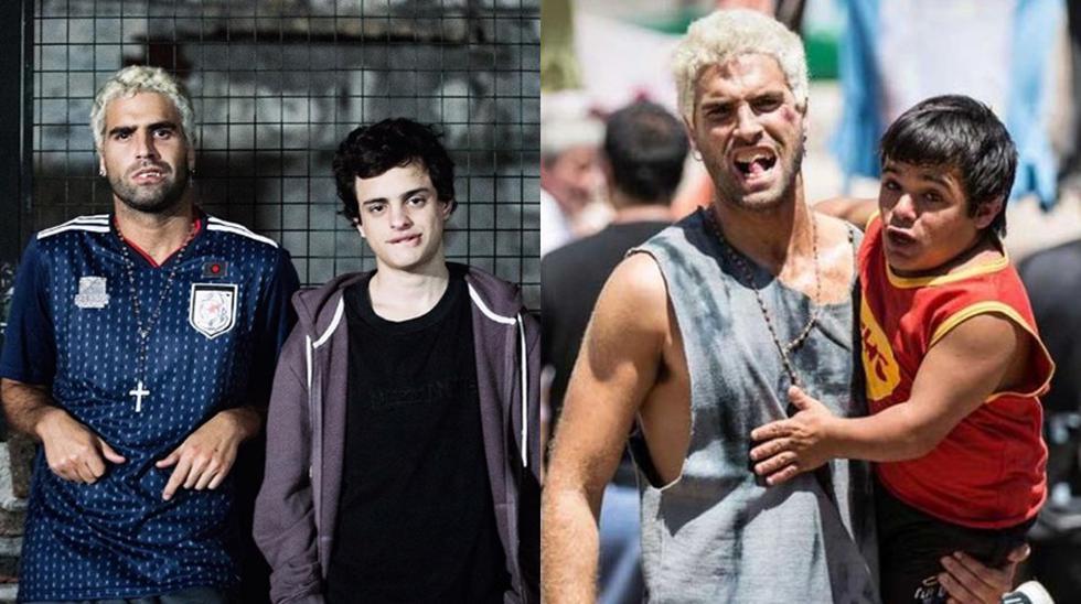 """(Izquierda) Nicolás Furtado y Lorenzo Ferro, protagonista de la tercera temporada de """"El marginal 3"""". (Derecha) El actor que encarna a 'Diosito' junto a Brian Buley ' Pedritp' en la serie."""
