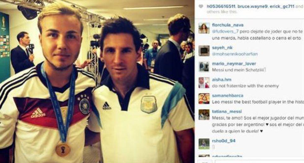 """La historia detrás de la foto """"provocativa"""" de Götze con Messi"""