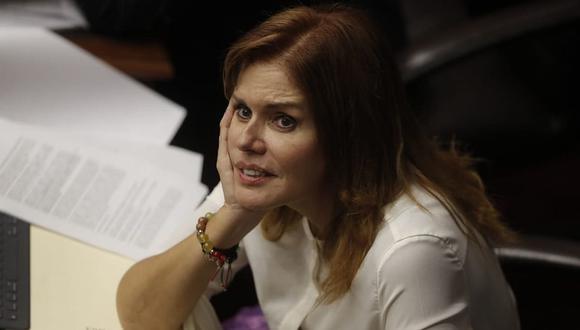"""La congresista Mercedes Araoz indicó que corresponde a ambos poderes del Estado generar un ambiente de """"coherencia y paz social"""". (Foto: César Campos/GEC)"""