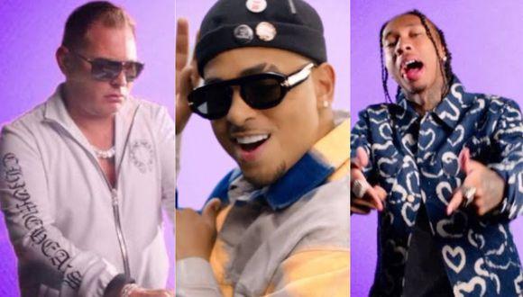 """Ozuna, Scott Storch y Tyga estrenaron el videoclip de """"Fuego del calor"""". (Foto: Captura)"""