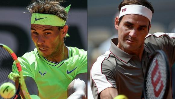 Nadal y Federer. (Foto: AFP)
