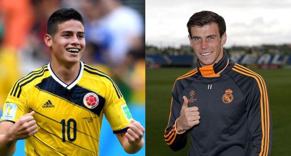 Gareth Bale le da la bienvenida a James Rodríguez vía Twitter