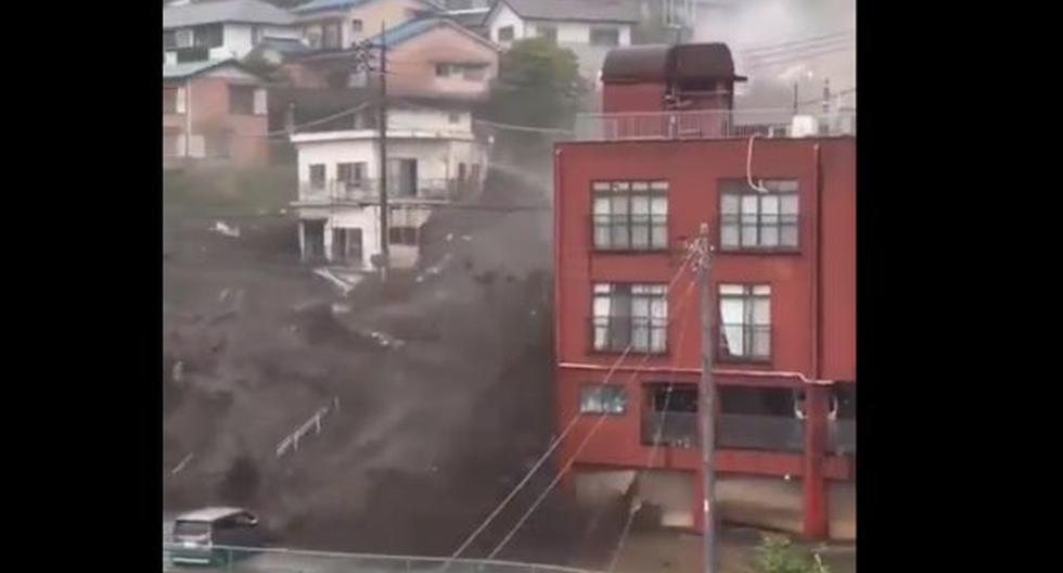 Japan: Shocking mudslide buries houses and leaves at least 19 missing