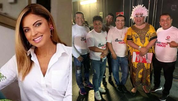 """Jorge Benavides y su reacción al ver a Karina Rivera con el celular durante la """"Teletón"""" (Foto: Instagram)"""