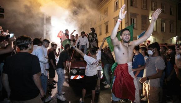 Disturbios en Italia por celebración de la Eurocopa 2021.