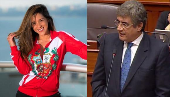 """Vanessa Terkes es captada junto al excongresista Juan Sheput, según video de """"Amor y Fuego"""". (Foto: @vanessaterkes/@juan.sheput)."""