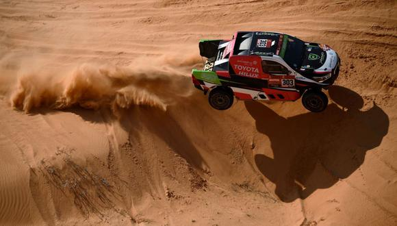 Yazheed Al Rajhi ganó la etapa maratón del Dakar 2021. (Foto: AFP)