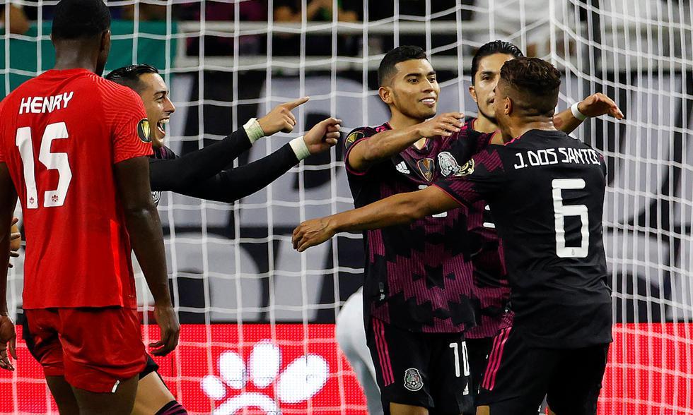 México chocó ante Canadá en la semifinal de la Copa de Oro 2021 | Foto: AFP