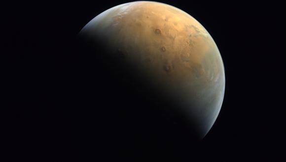 Imagen de Marte captada por la Agencia Espacial de los Emiratos Árabes Unidos. (Foto: United Arab Emirates Space Agency / AFP)