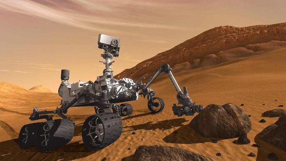 Concept Art del Curiosity (Foto: NASA)