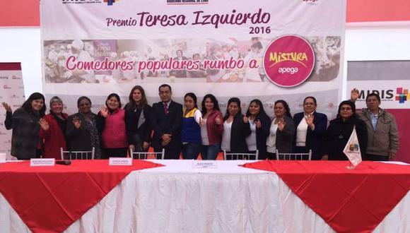 Mistura 2016: madres de comedores populares serán premiadas