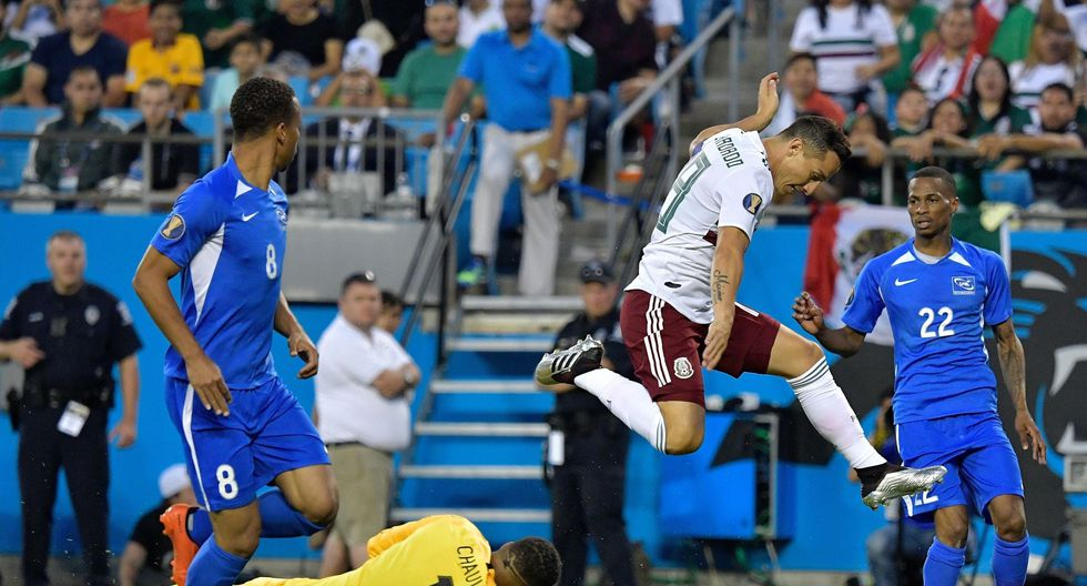 El volante de la selección de México Andrés Guardado logró registros históricos con su país en la Copa Oro. (Foto: AFP)