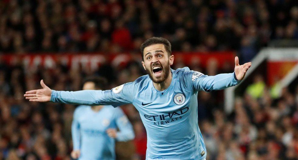 Manchester United vs. Manchester City: Bernardo Silva marcó el 1-0 con este golazo. (Foto: Reuters)