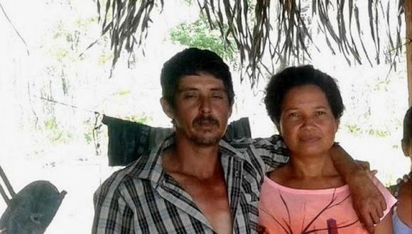 Eidi y Romildo murieron cuando intentaban huir de las llamas que rodearon su casa en una zona rural del estado de Rondonia, en Brasil. Foto: CORTESÍA DE LA FAMILIA, vía BBC Mundo