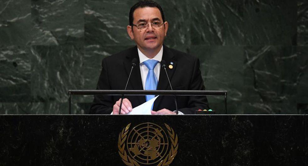 Jimmy Morales, presidente de Guatemala, presente en la 73ª sesión de la Asamblea General en las Naciones Unidas en Nueva York. | Foto: AFP
