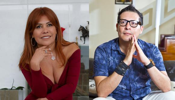 Magaly Medina y Carloncho, en sesiones de fotos para el grupo El Comercio. Fotos: Britanie Arroyo, Allen Quintana.
