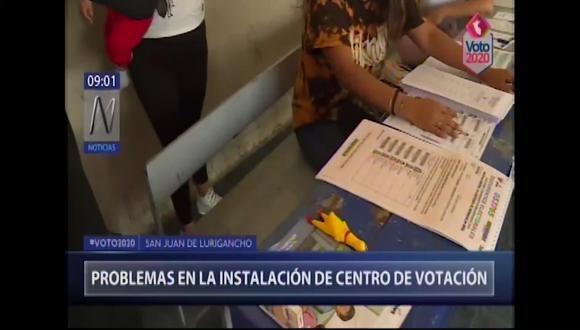 En San Juan de Lurigancho hay 769,453 votantes, según el Padrón Electoral elaborado por el Registro Nacional de Identificación y Estado Civil (Reniec). (Foto captura: Canal N)