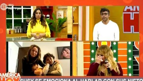 Susy Díaz se quiebra al confesar que extraña abrazar a sus nietos. (Foto: captura de video)