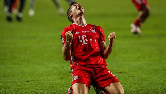 Robert Lewandowski fue el máximo goleador de la Champions League con 15 goles. (Foto: EFE)