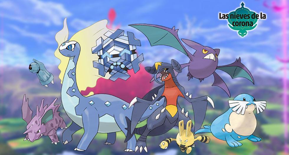 """Se han confirmado varios pokémon de las generaciones anteriores que apareceran en """"Las nieves de la Corona"""", la segunda parte del DLC de """"Pokémon Espada y Escudo"""". (Imagen: Nintendo/ Composición: El Comercio)"""