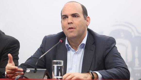 """""""Asistiremos, en el caso de los ministros, en el momento que se nos pida a la Comisión de Fiscalización"""", dijo Fernando Zavala. (Foto: PCM)"""