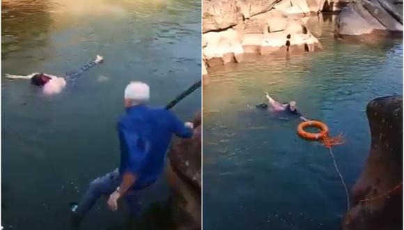 Stephen Ellison se ha convertido en un héroe local tras lanzarse a un río para salvarle la vida a una estudiante que se estaba ahogando. (Foto: @ukinchina / Twitter)