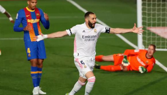Real Madrid se impuso por 2-1 ante Barcelona por LaLiga 2021. (Foto: EFE)
