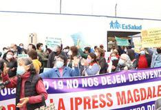 Magdalena: asegurados de Essalud protestan por cierre de establecimiento tras vencimiento de contrato