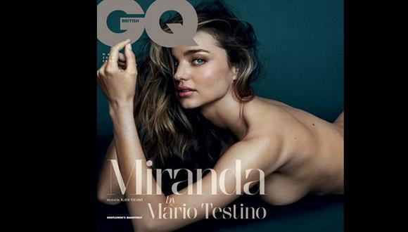 Miranda Kerr se desnudó para el lente de Mario Testino