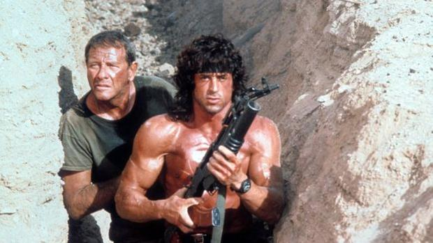 """In the picture """"Rambo III"""" (1988) Actor Sylvester Stallone plays a US soldier who fought on the side of the Mujahideen in Afghanistan during the Soviet invasion.  (Columbia Tristar)"""