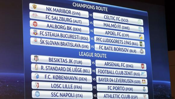 Champions League: así se jugarán los 'play off' previos