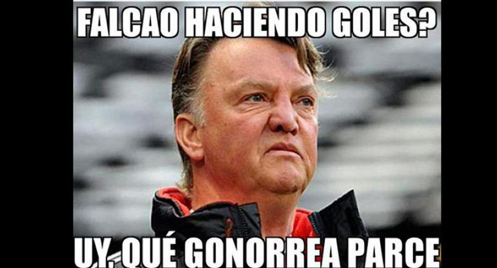 Van Gaal y los memes tras los dos goles de Falcao con Colombia - 11