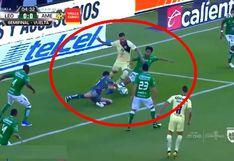 América vs. León EN VIVO vía FOX Sports 2: así fue la jugada más polémica del primer tiempo | VIDEO
