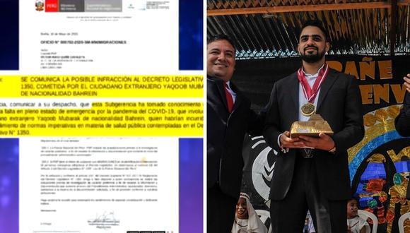 Magaly Medina aseguró que el empresario Yaqoob Mubarak vino a Lima y luego viajó a Trujillo en plena cuarentena. (Captura de pantalla / @yaqoob_mubarak87)