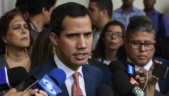 """Juan Guaidó dice que adelantar legislativas sería un """"desastre"""" para Nicolás Maduro. Foto: AFP"""