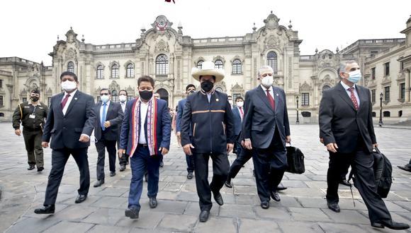 Hasta el cierre de esta nota, ni Castillo ni Bellido tenían contemplado realizar actividades.  (Foto: PCM)