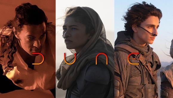 """""""Dune"""". De izquierda a derecha Duncan Idaho (Jason Momoa), Chani (Zendaya) y Paul (Thimothée Chalamet); protagonistas de la esperada película de Denis Villeneuve. Foto: Warner Bros."""
