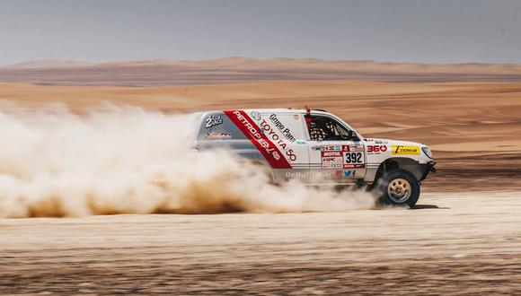 Fernanda Kanno no pudo culminar su primera participación en el Dakar. (Foto: Perú Motorsport)