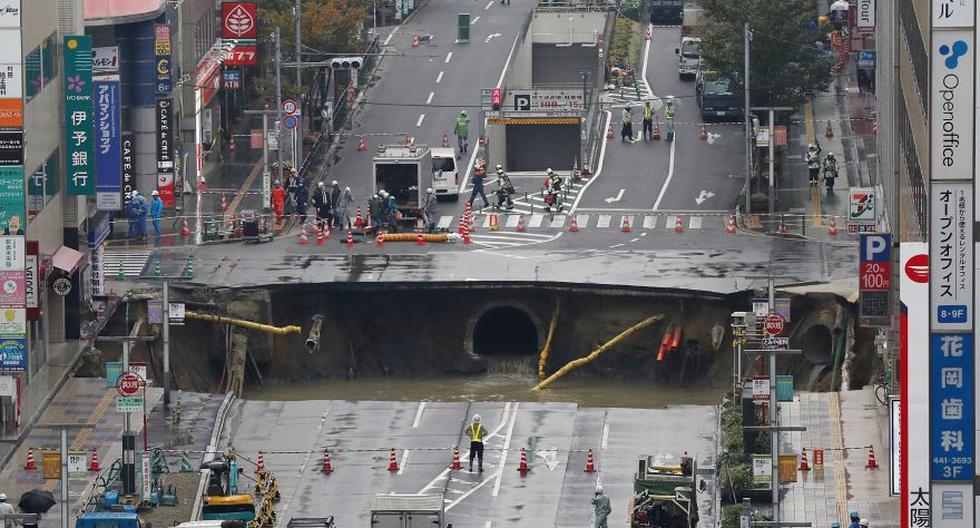 YouTube: un enorme agujero en la pista desató alarma en Japón - 4