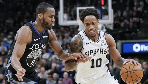 El escolta DeMar DeRozan tuvo 24 puntos con los Spurs de San Antonio | Foto: AP