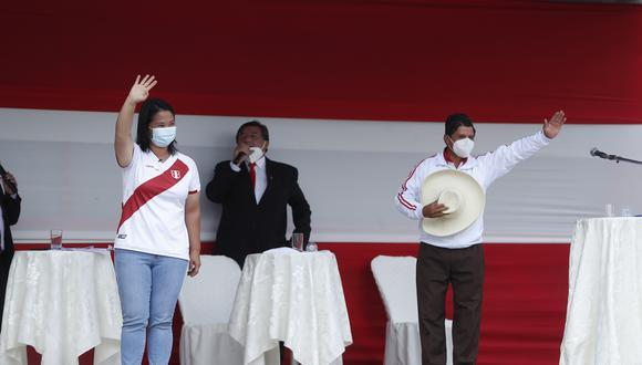 Keiko Fujimori insiste en debatir con Pedro Castillo este sábado 15 de mayo. (Foto: Archivo GEC)